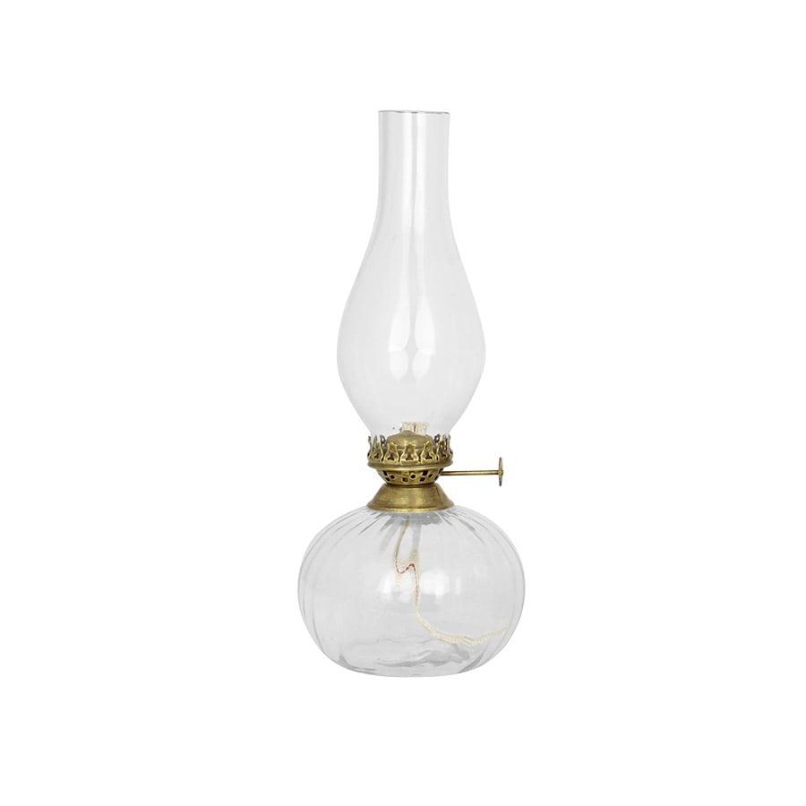 Kerosene Lamp Elisabeth Round Small Antique Brass