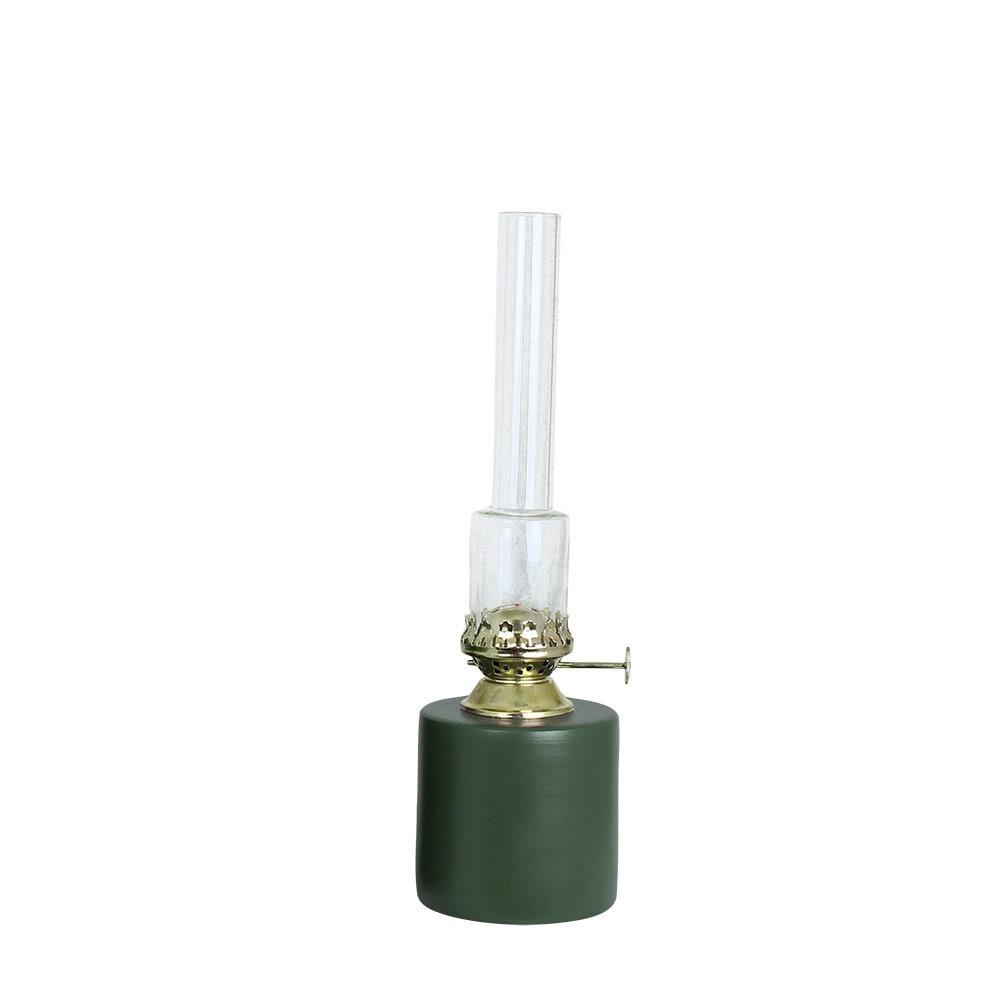 Kerosene Lamp Straight Green Small