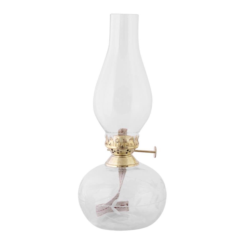 Kerosene Lamp Oval Leaf Brass
