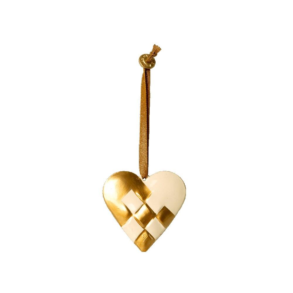 Hänge Hjärta Flätad Guld