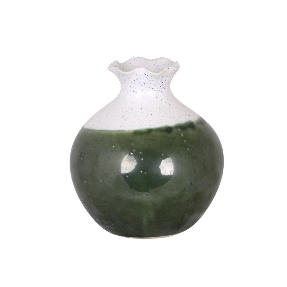 Vase Elsa Green/White