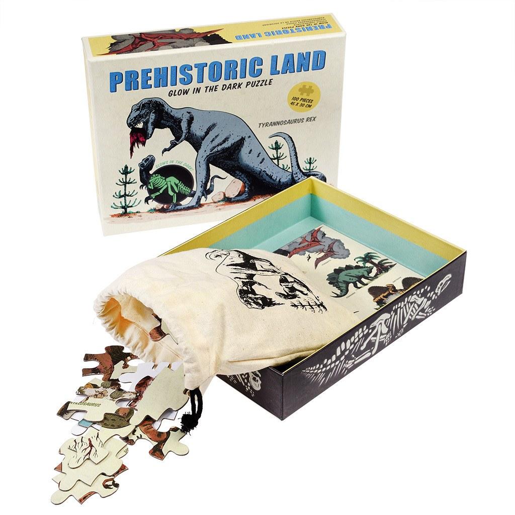 Prehistoric Land Glow In The Dark Puzzle (100 Pc)