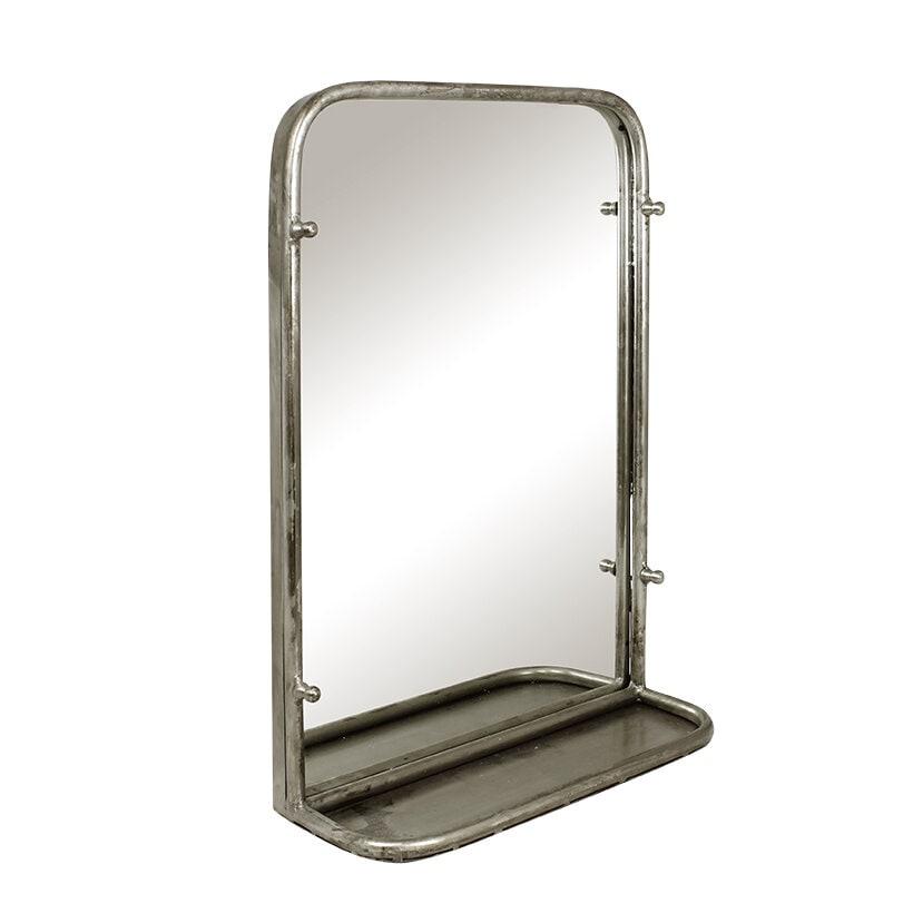 Mirror Karin w. Shelf Antique Silver Small