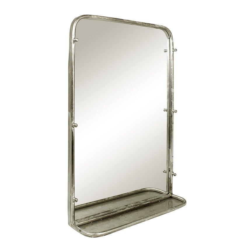 Spegel Karin m. Hylla Antik Silver Stor
