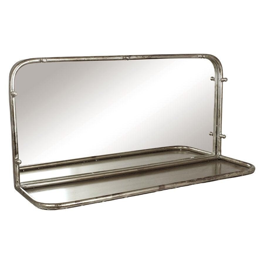 Spegel Karin m. Hylla Antik Silver Bred