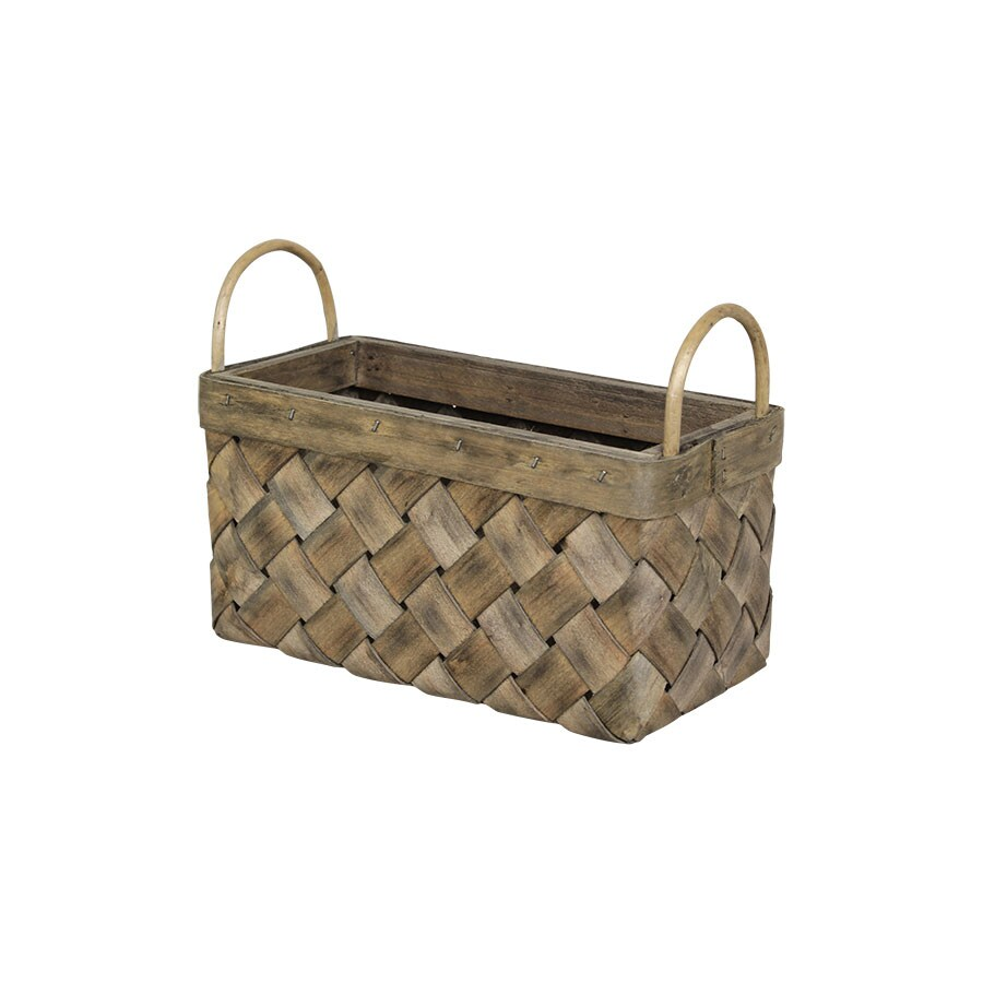 Wood Basket Crisp Bread Grey