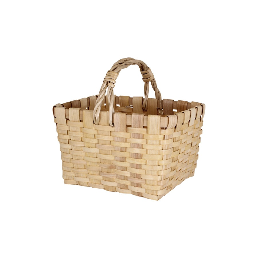 Wood Basket Kerstin w. Handle Nature Small