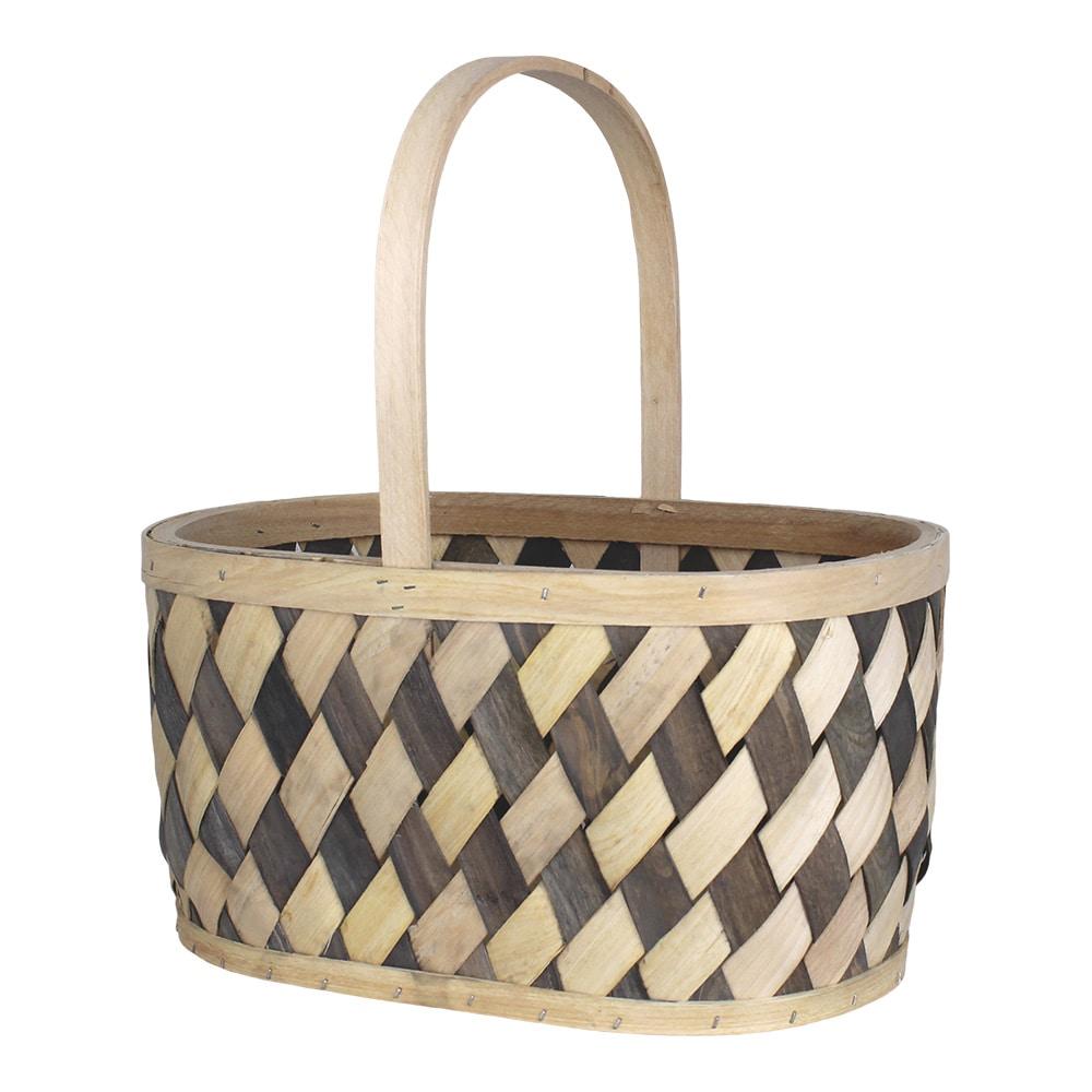 Wood Basket Vera Grey/Nature Large