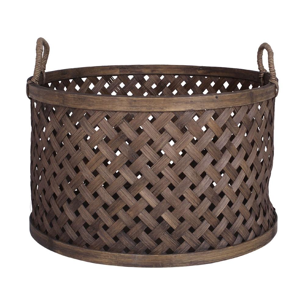 Round Basket w. Handle Ida Large