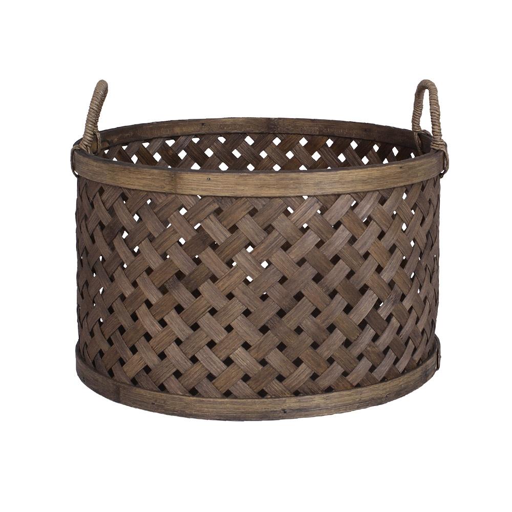 Round Basket w. Handle Ida Medium