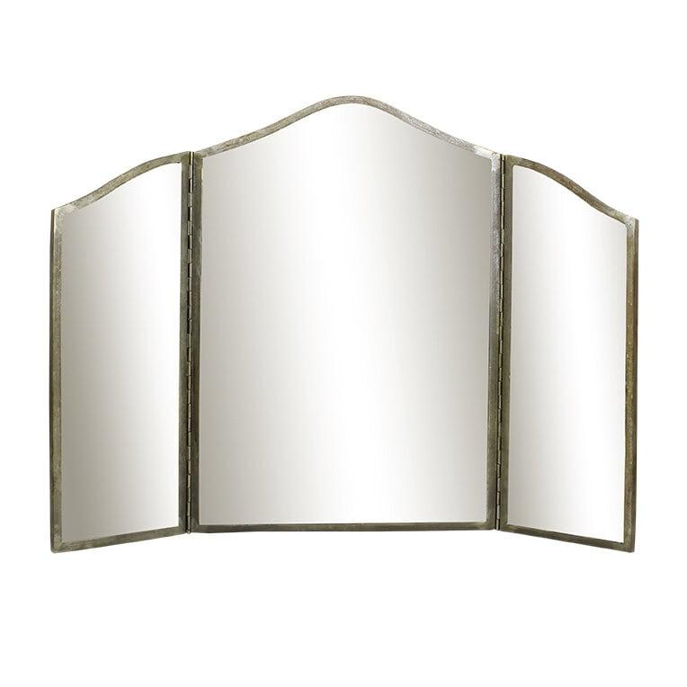 Tri-fold Mirror Karin Antique Silver