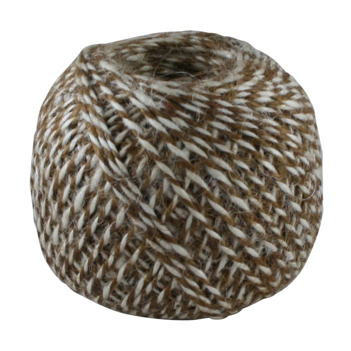 Twine of Jute Round Brown/White