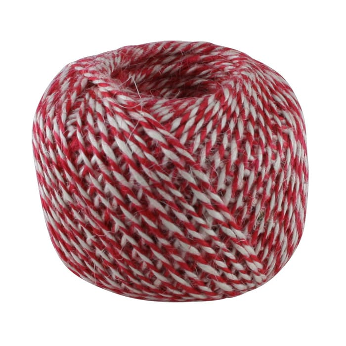 Twine of Jute Round Red/White