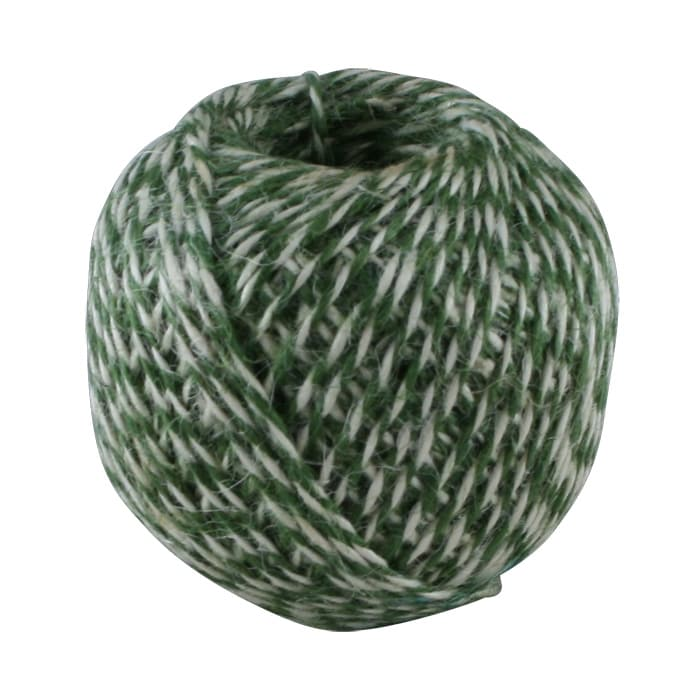 Twine of Jute Round Green/White