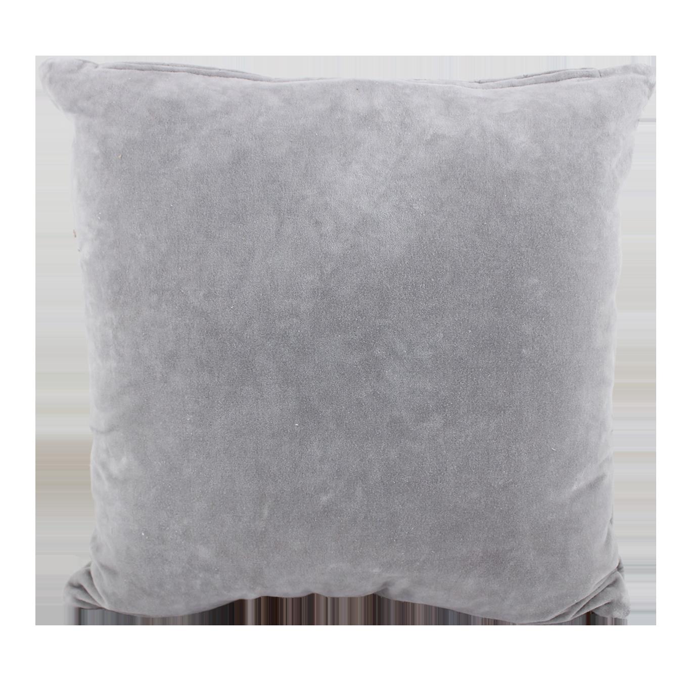 Cushion Cover Velvet Light Grey
