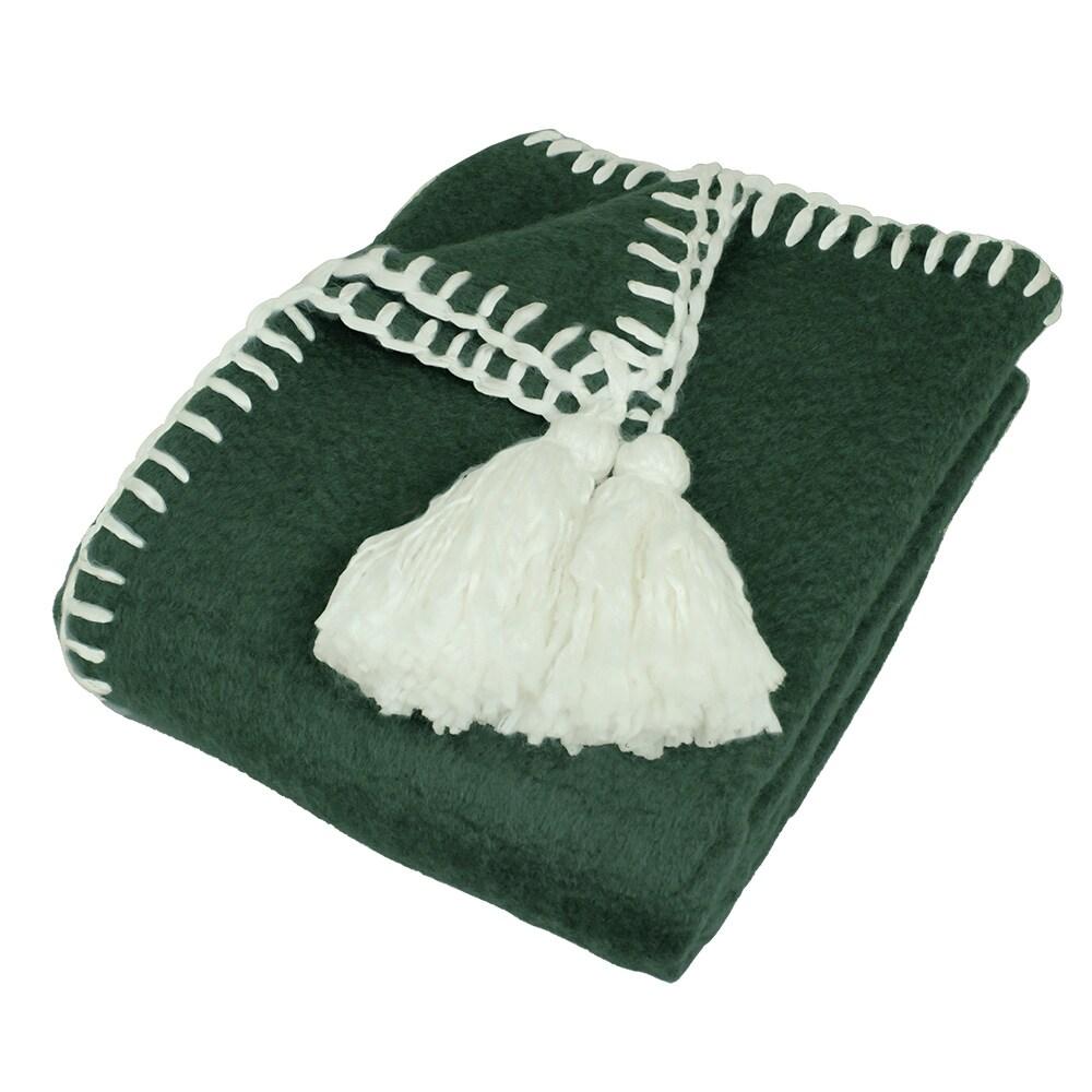Wool Plaid Elly Green/White