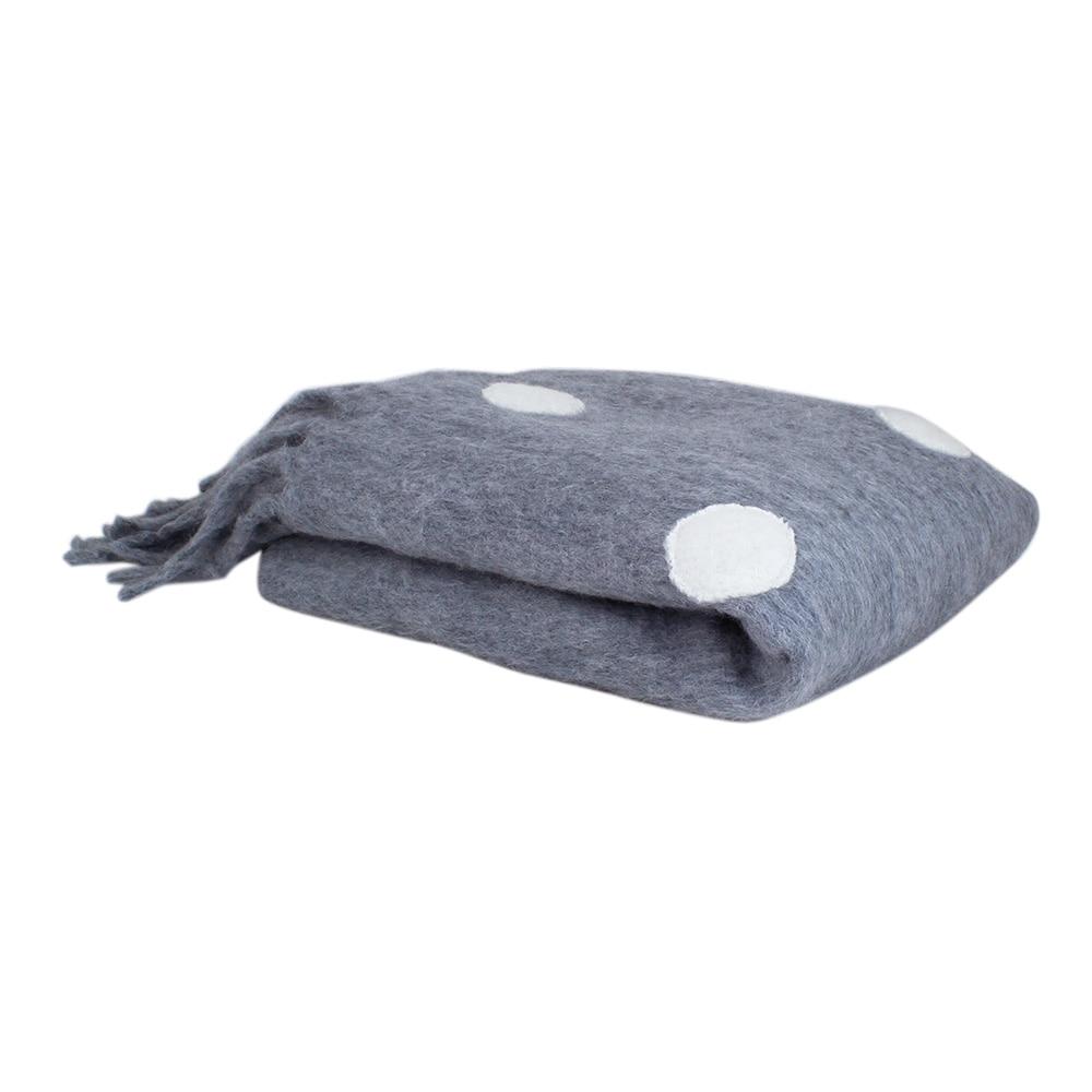 Wool Plaid Dot Grey/White