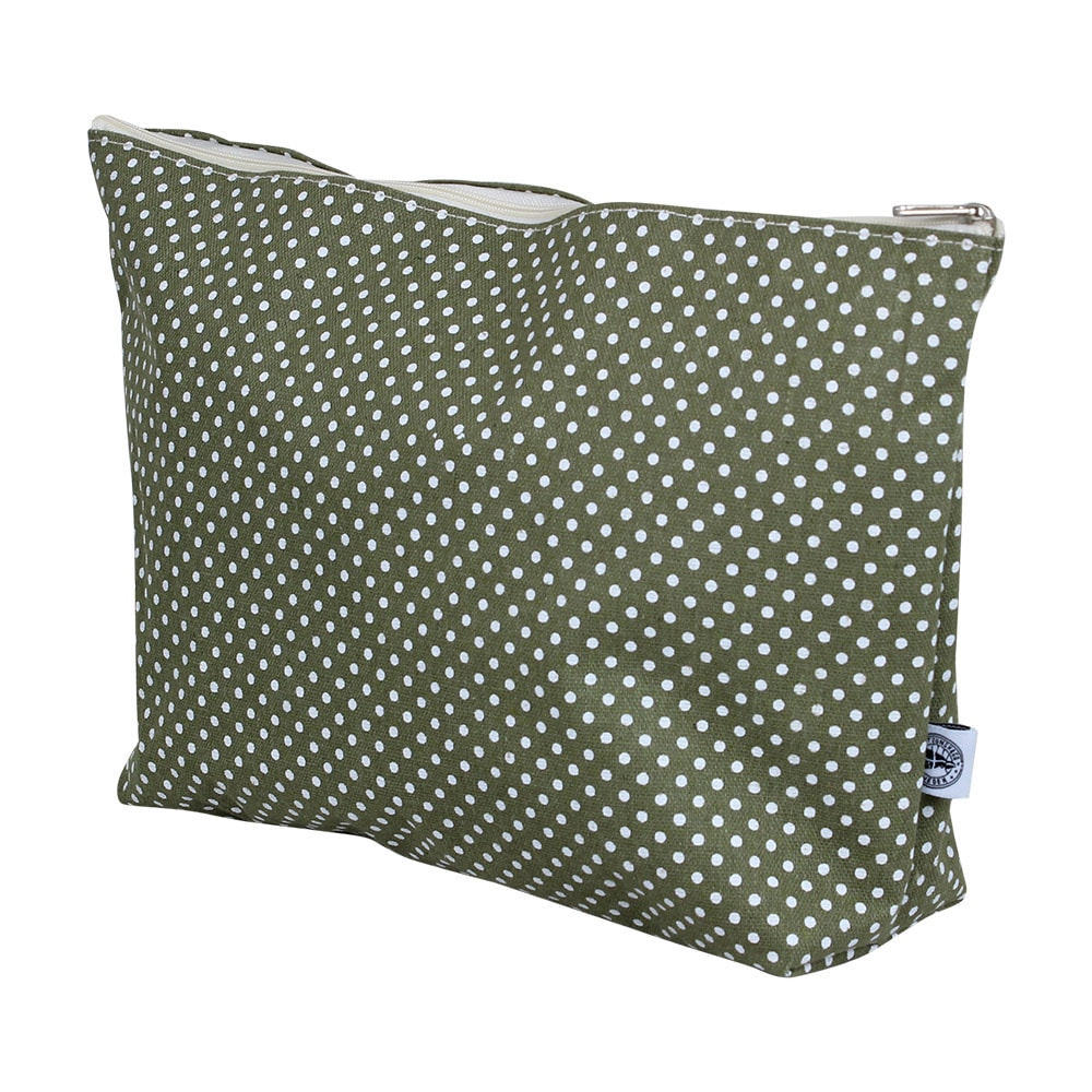 Toilet Bag Dot Green Large