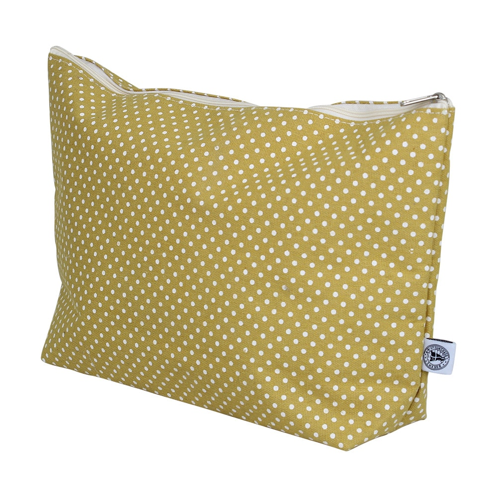 Toilet Bag Dot Yellow Large