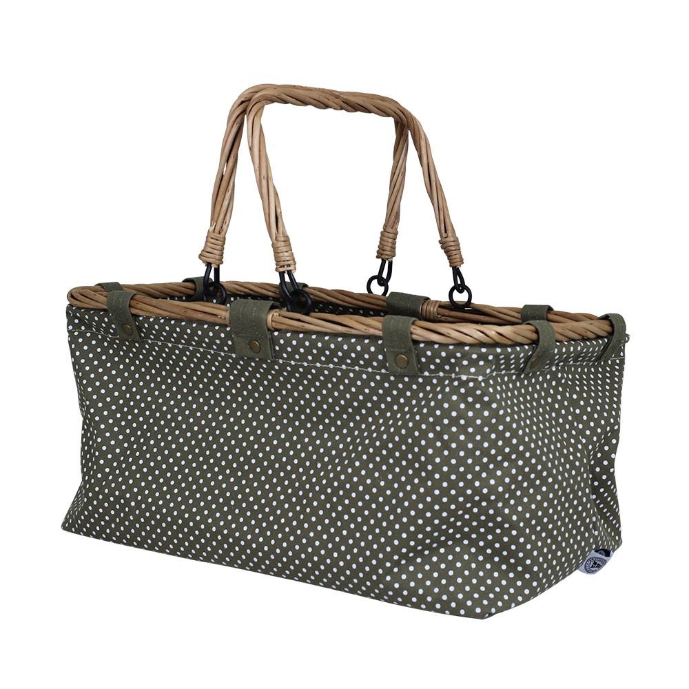 Textile Basket Dot Green
