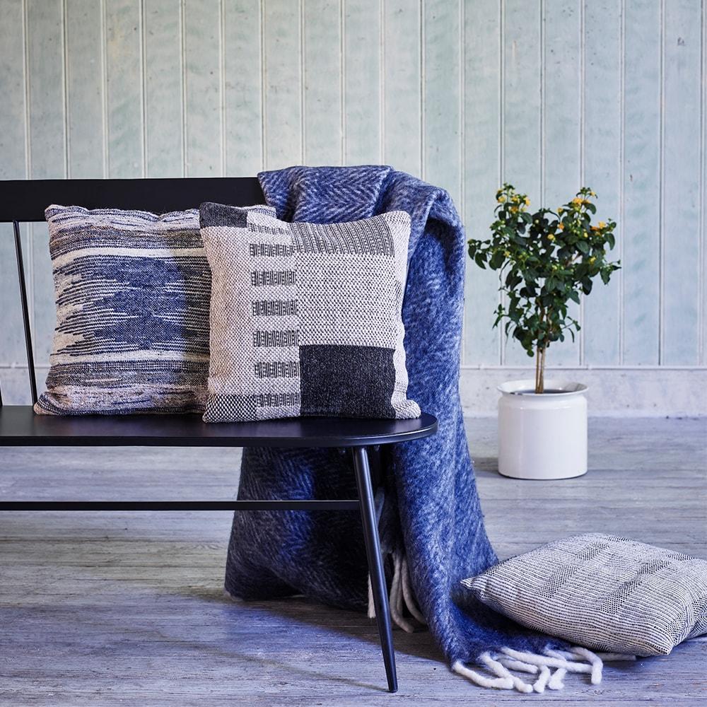 Cushion Cover Noel Blue/Natural