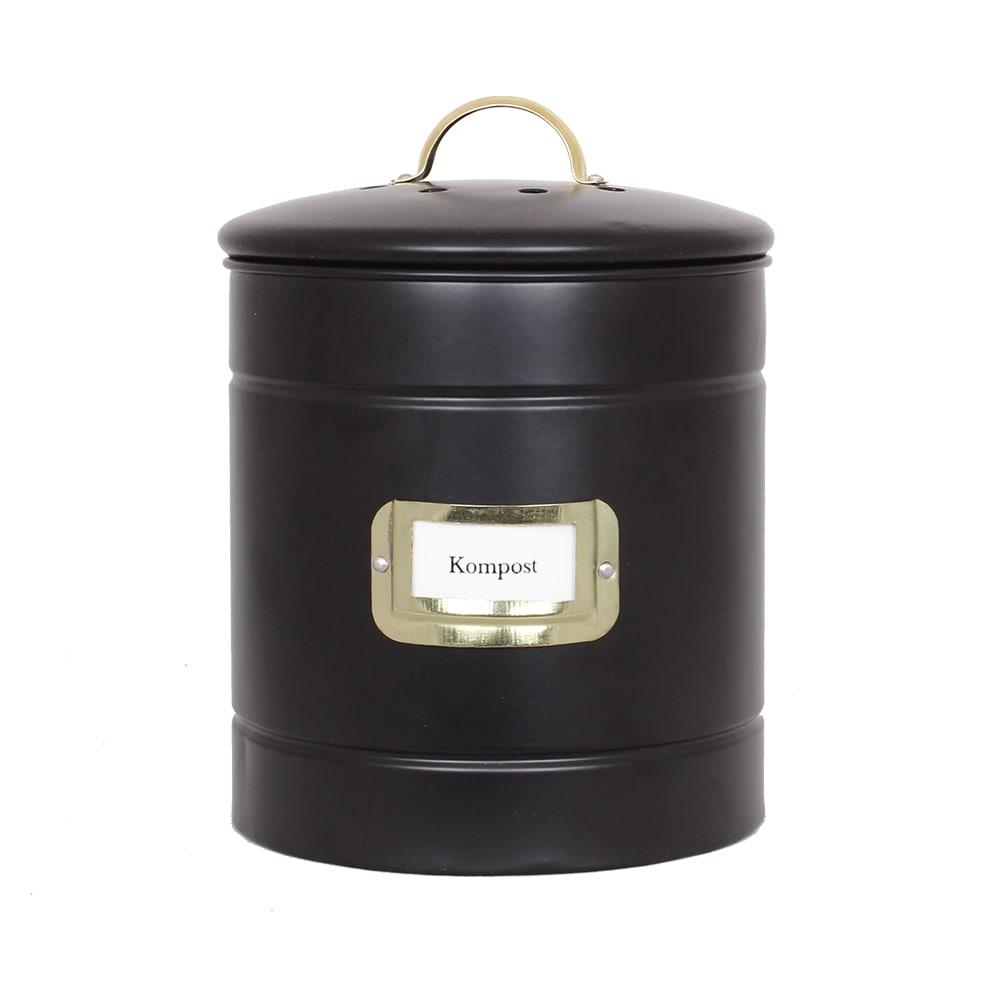 Plåtburk Hilma Kompost Svart/Mässing