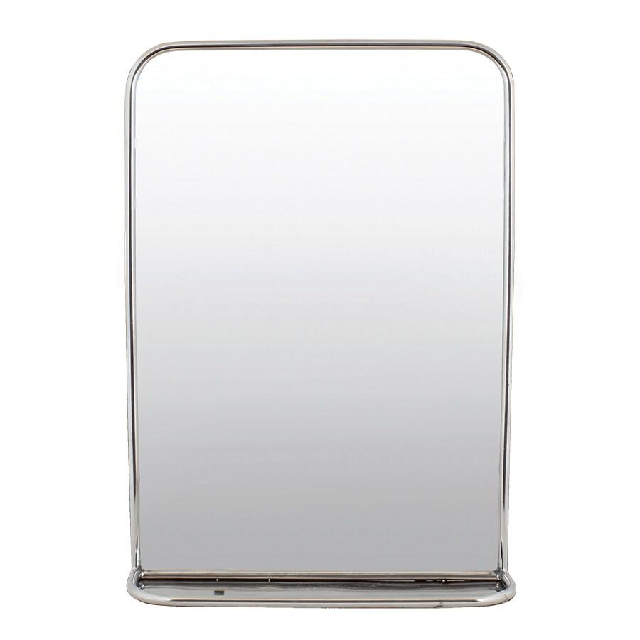 Bathroom Mirror w. Shelf Stainless Steel Large