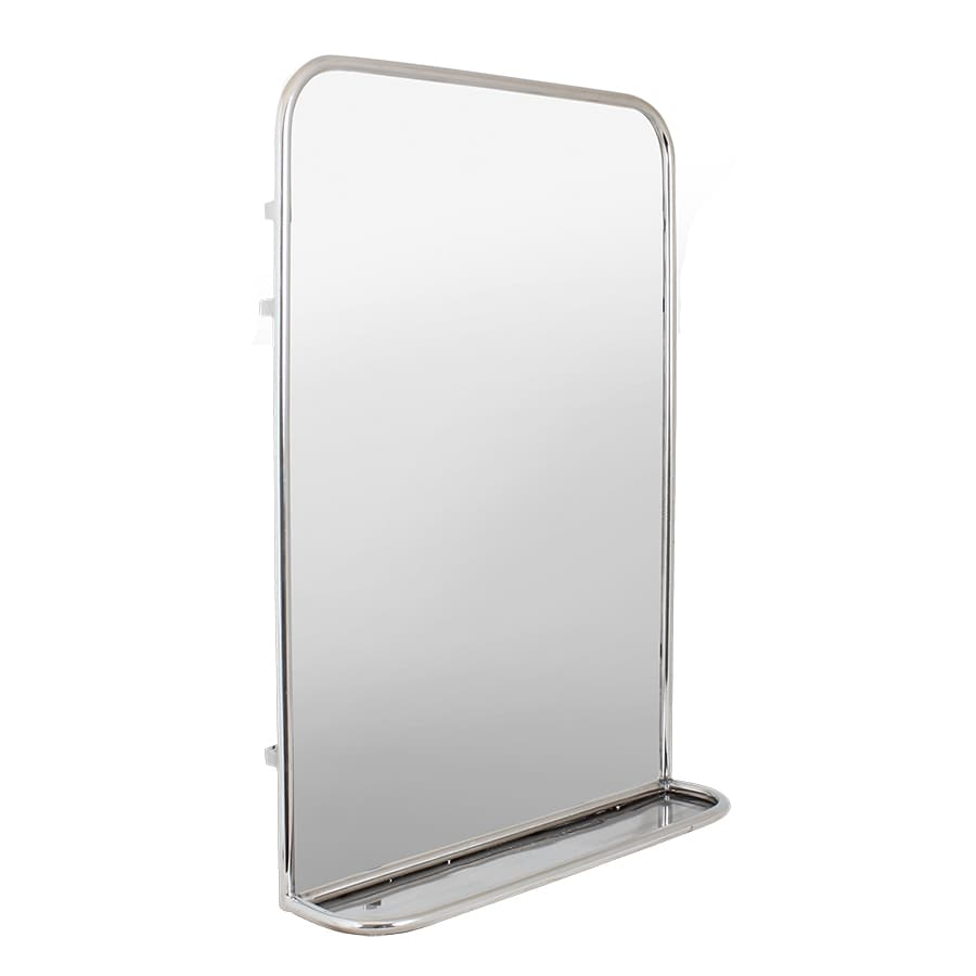 Bathroom Mirror w. Shelf Stainless Steel Large