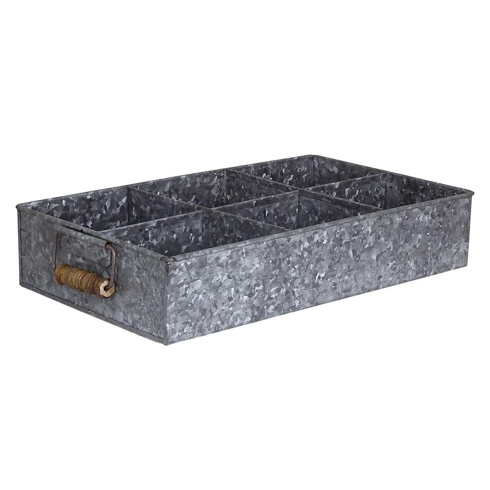 Box w. 6 Partitions Zinc