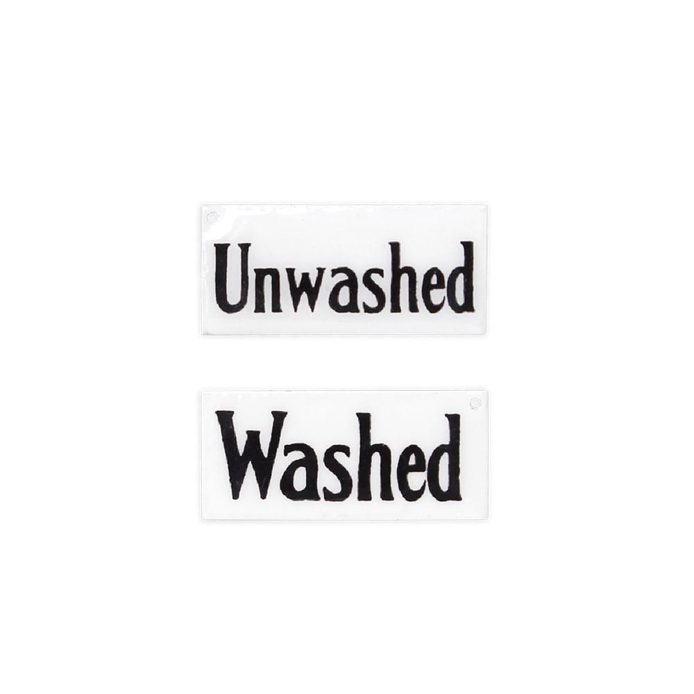 Sign Washed/Unwashed