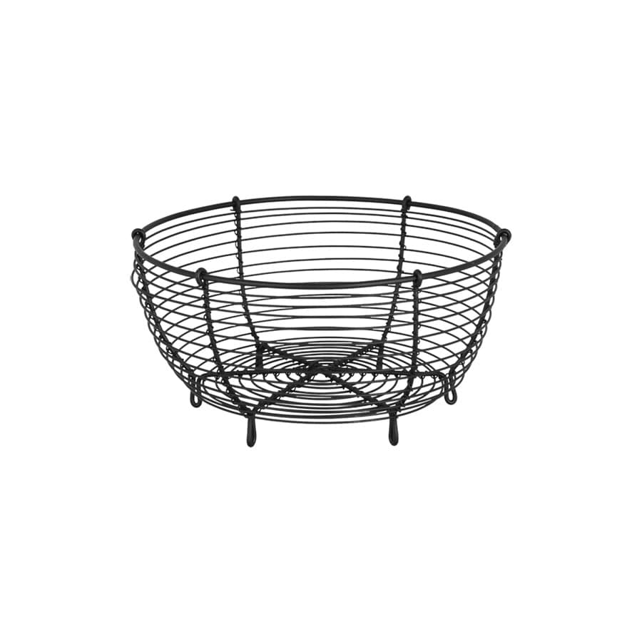 Wire Basket Round Black Small