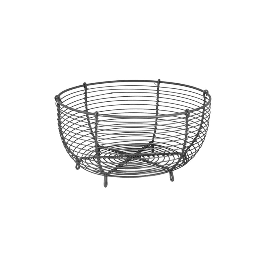 Wire Basket Round Zink Small