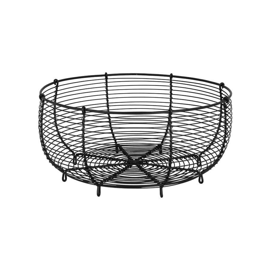 Wire Basket Round Black Large