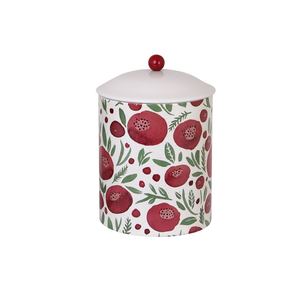Tin Flowers Red