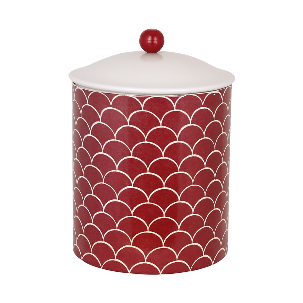 Tin Fish Scale Red