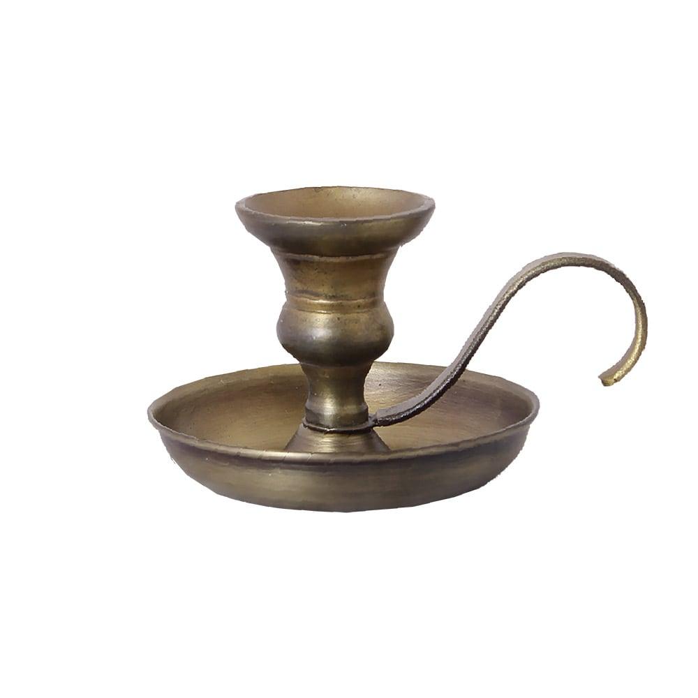 Candle Holder Gunnar Antique Brass