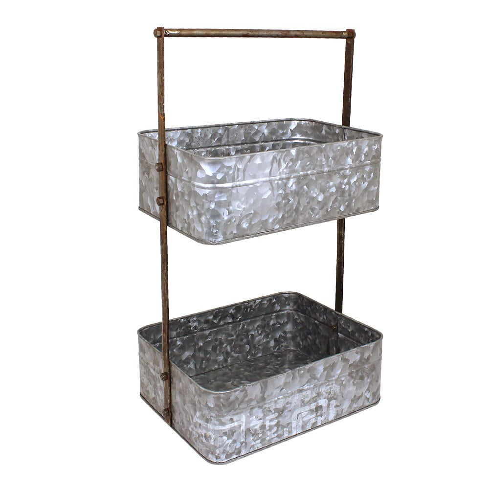 Storage Trays on Stand Zinc/Rust