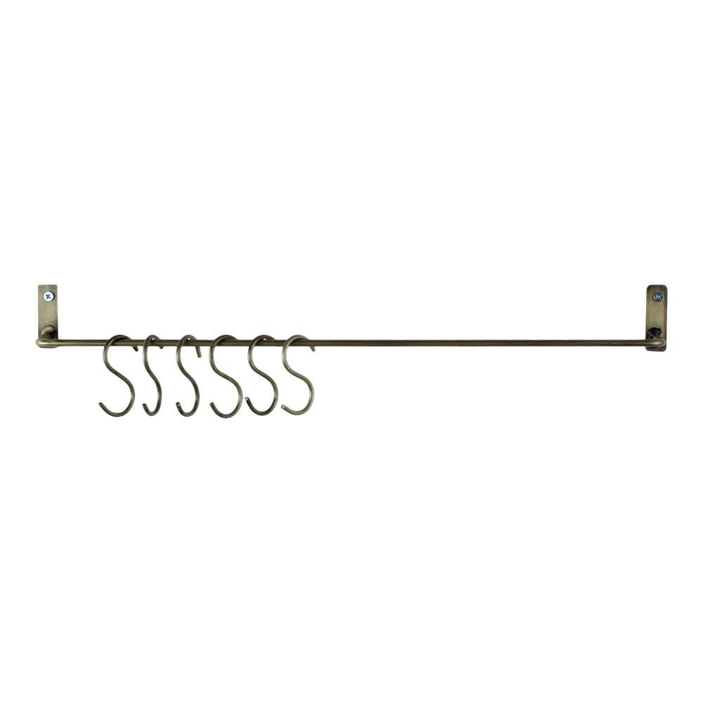 Wall Hanger w. S-hooks Antique Brass