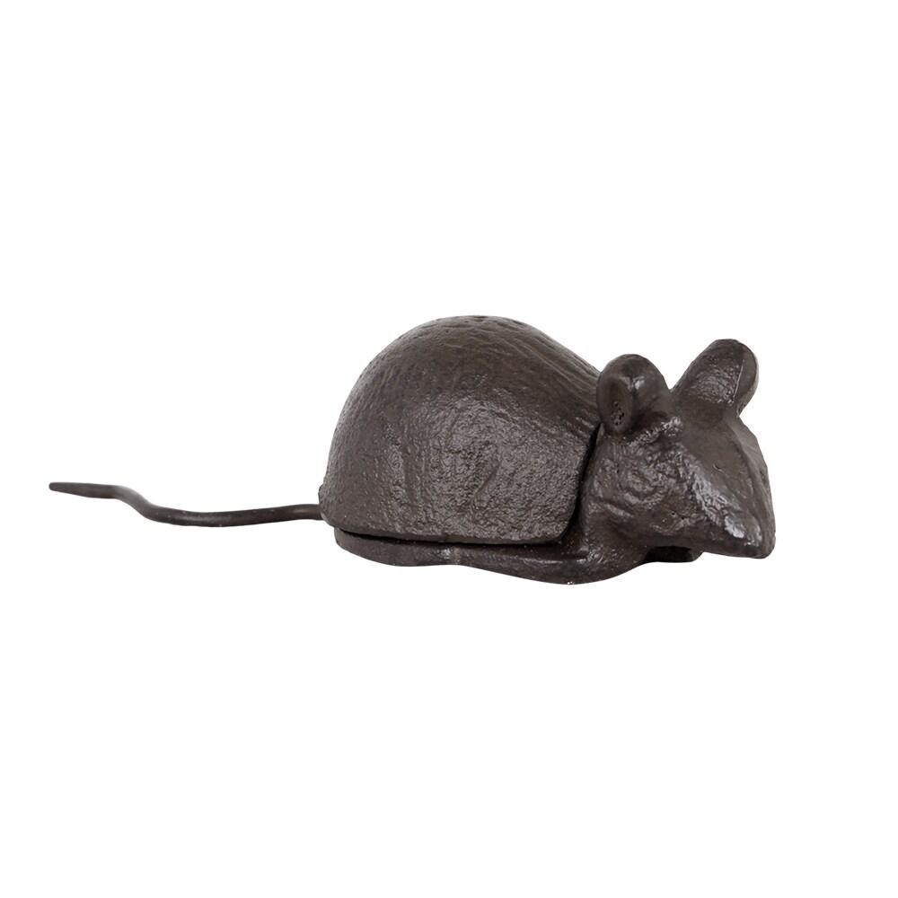Box Mouse Iron Antique Brown
