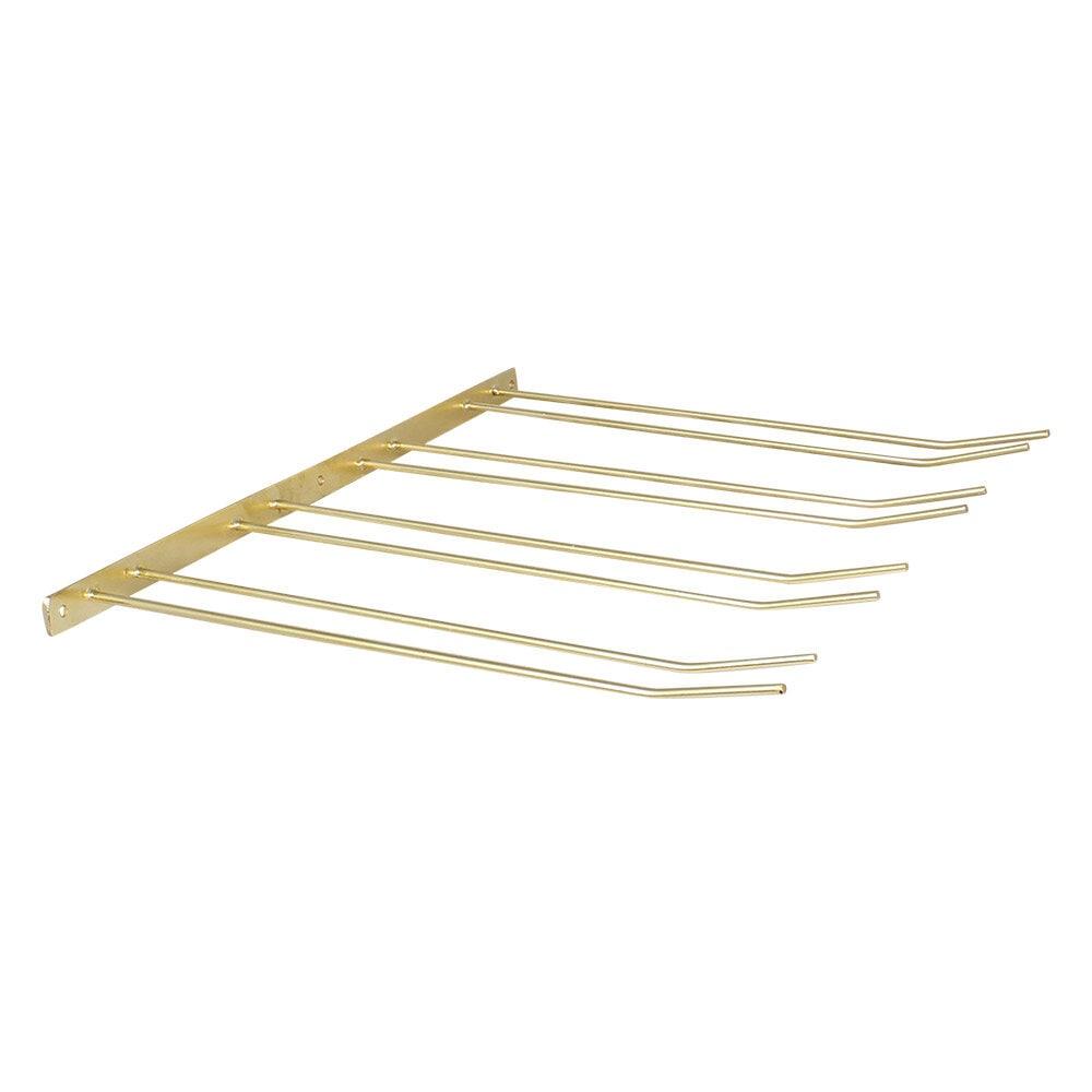 Glass Hanger 4 Rows Brass