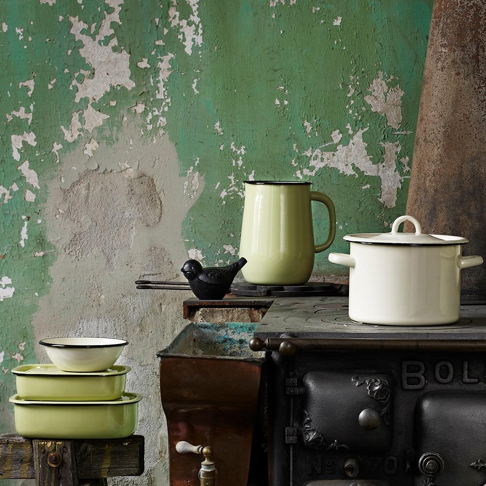 Oven Dish w. Lid Emil´s Enamel 1L Green