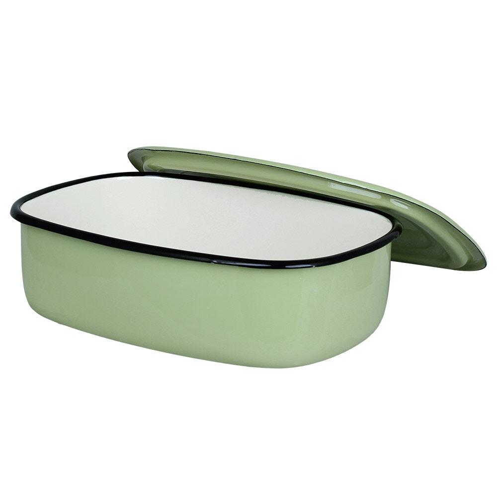 Oven Dish w. Lid Emil´s Enamel 1,5L Green