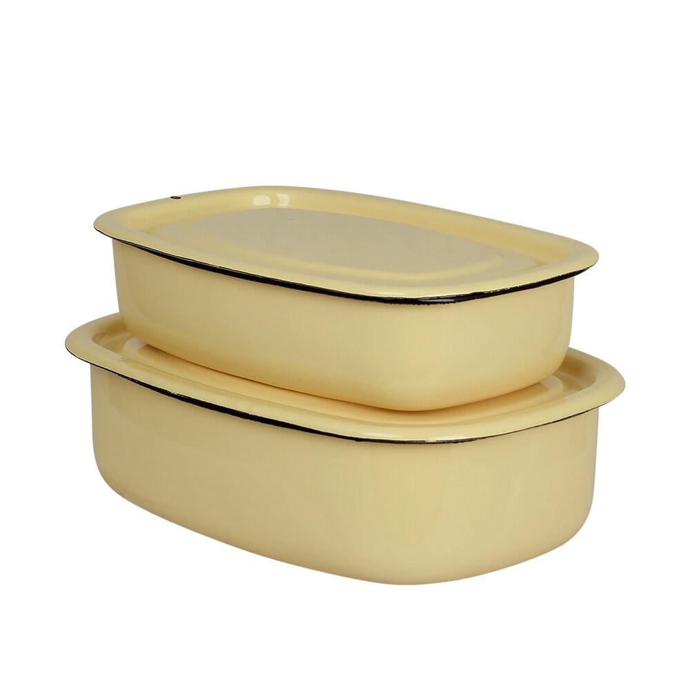 Oven Dish w. Lid Emil´s Enamel 1,5L Yellow