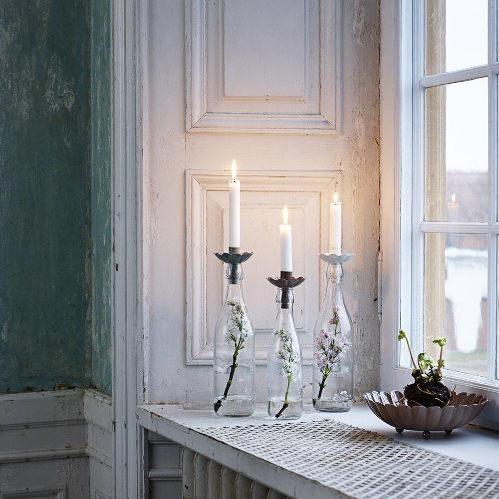 Candle Holder for Bottle Ingrid Green