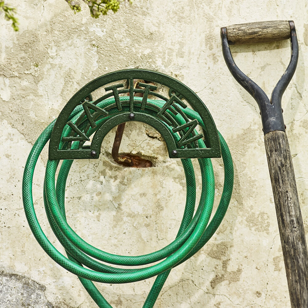 Slanghållare Vatten Järn Grön