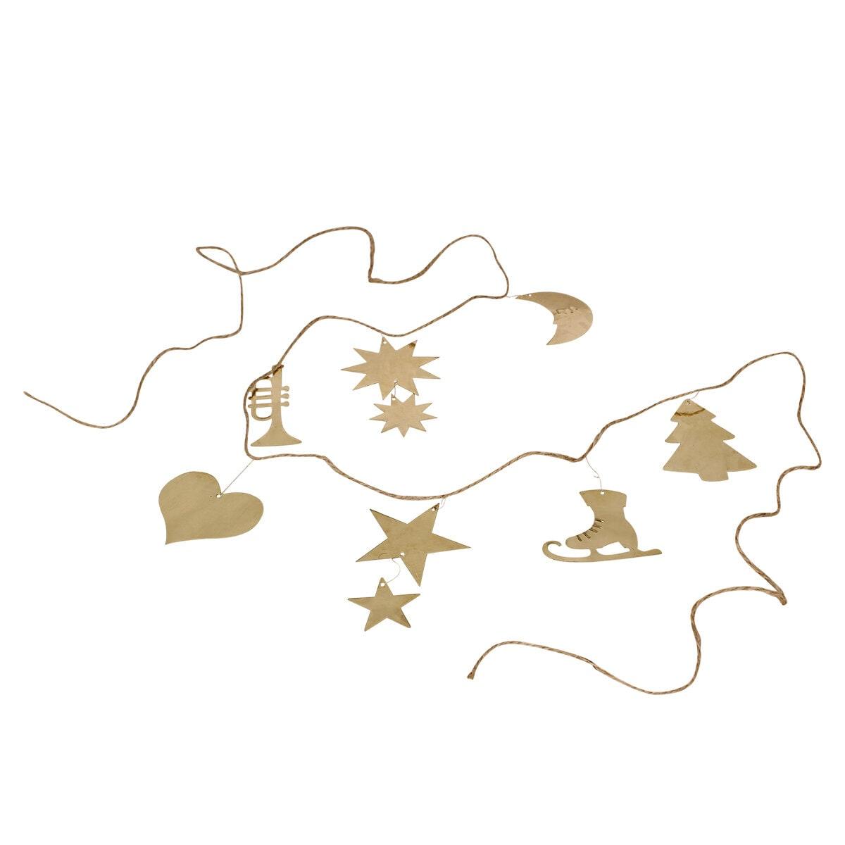 Girlang Ornament Mässing Kort
