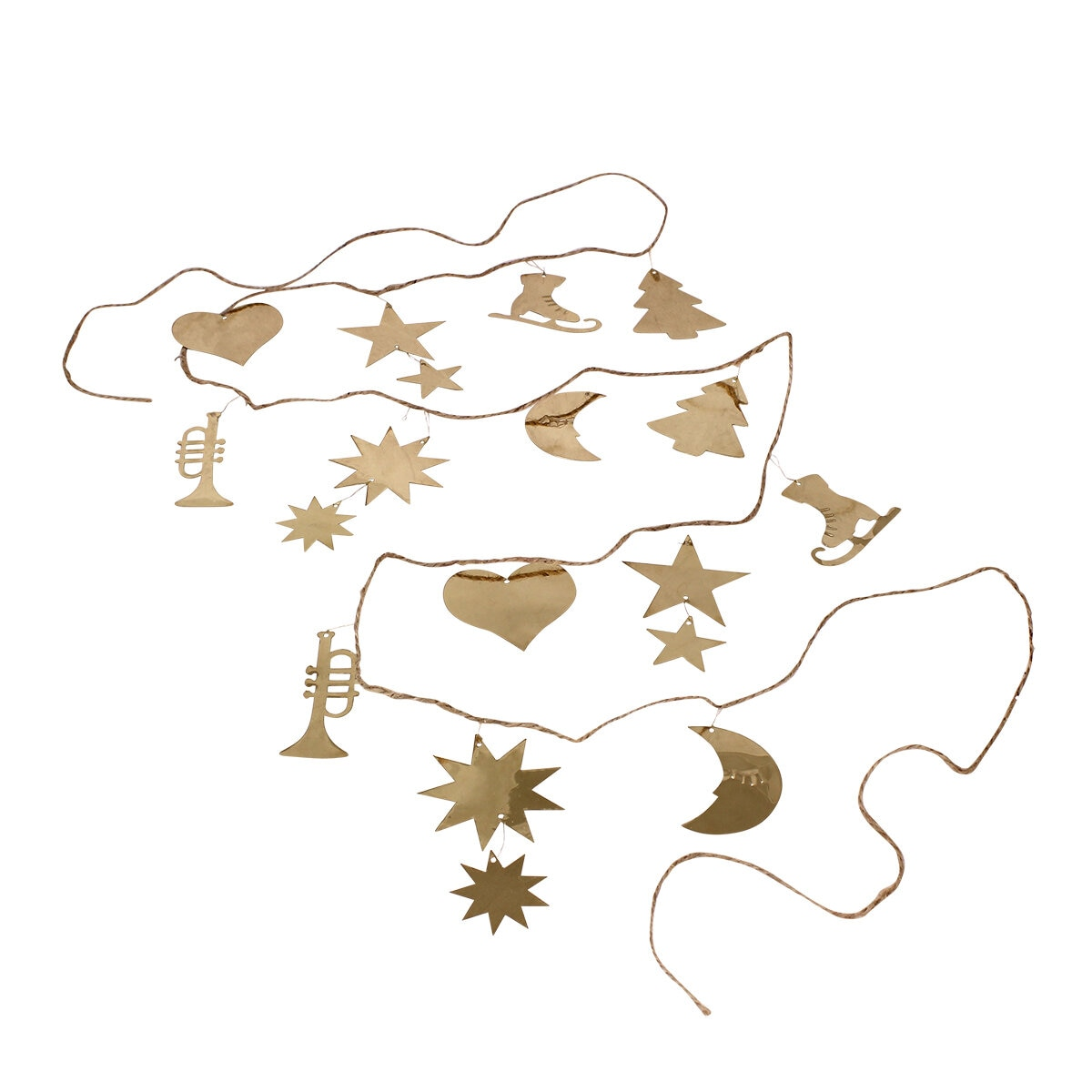Girlang Ornament Mässing Lång