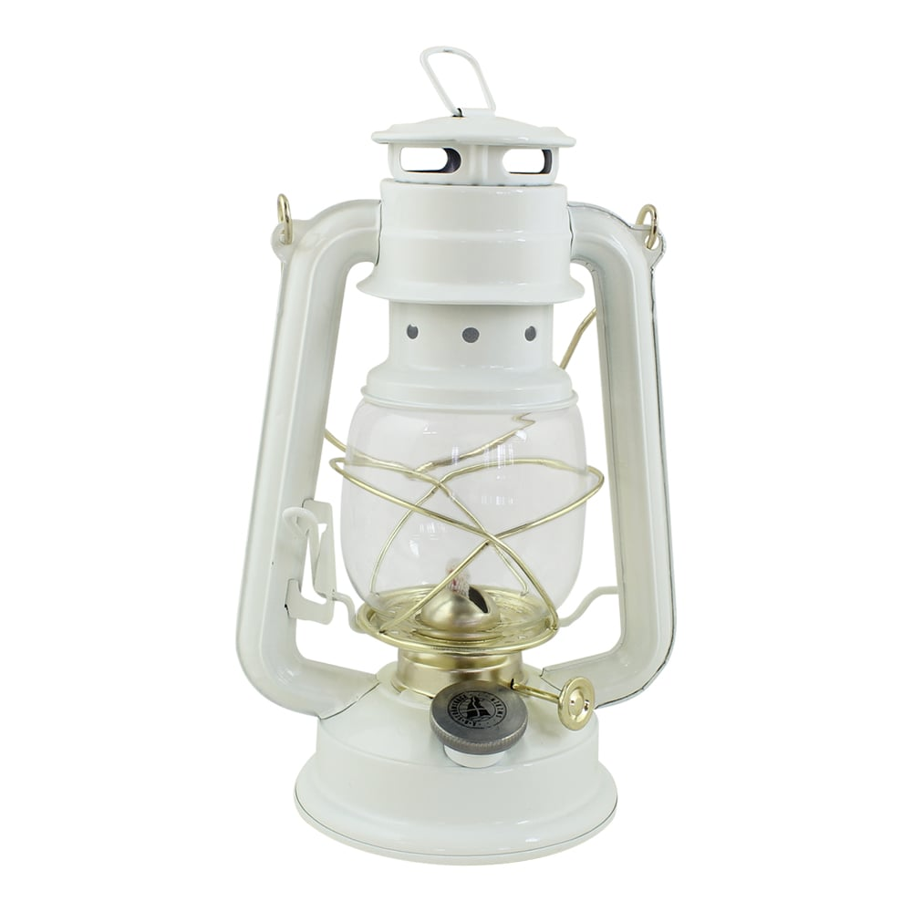 Hurricane Lantern White/Brass Small