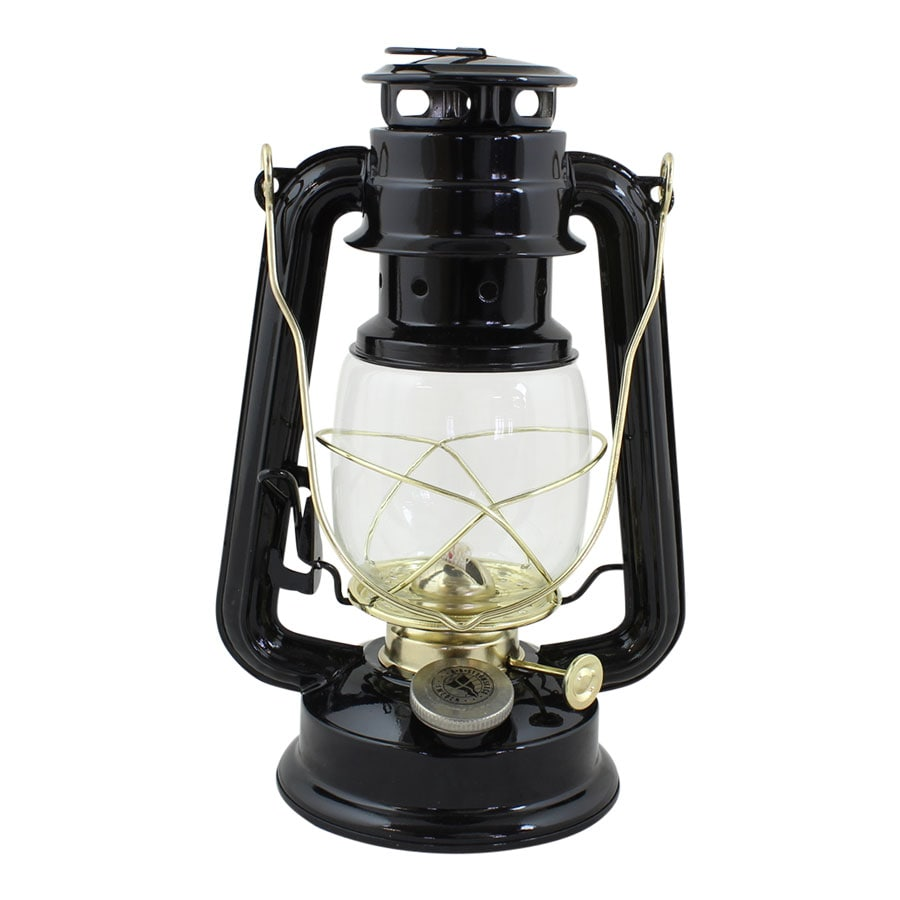 Hurricane Lantern Black/Brass Small