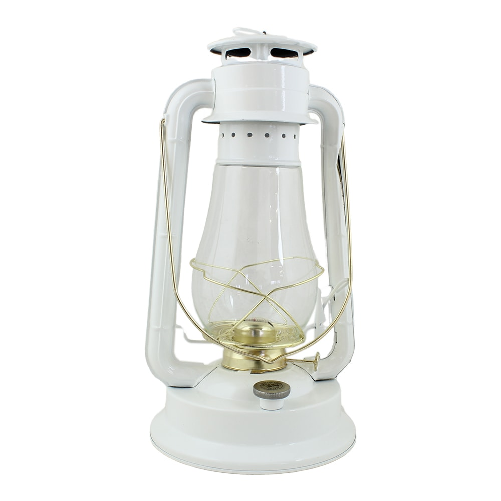 Hurricane Lantern White/Brass Large